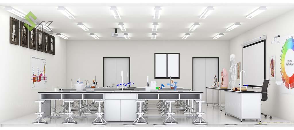 Bàn thí nghiệm học sinh thiết kế phòng thí nghiệm hóa sinh