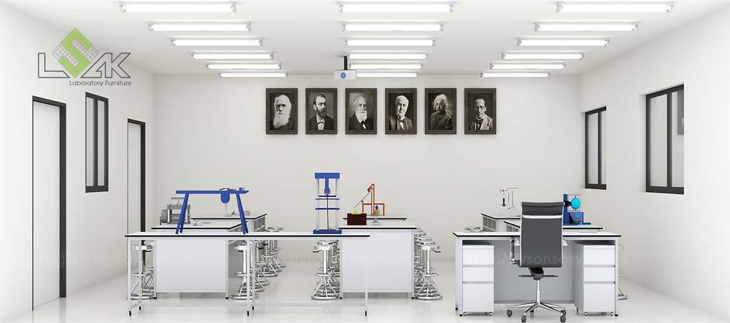 Bàn thí nghiệm lý thiết kế phòng thí nghiệm lý