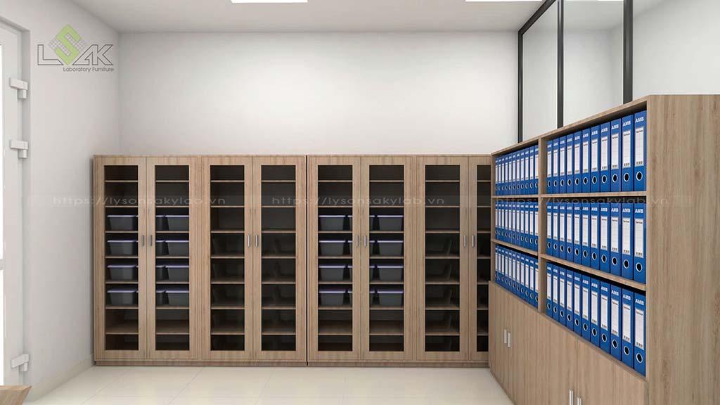 Tủ hồ sơ thiết kế phòng thử nghiệm chất lượng thức ăn chăn nuôi gia súc, gia cầm