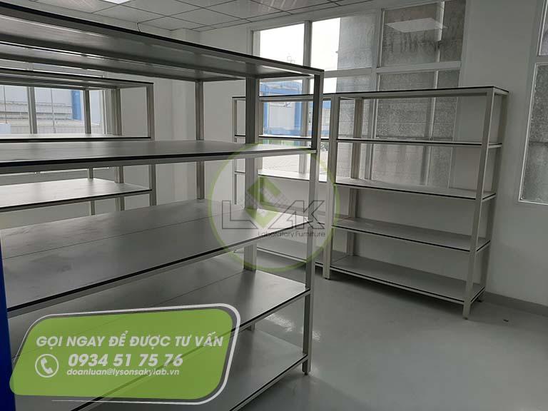 Kệ lưu kho phòng lab nhà máy sản xuất sơn Công ty AkzoNobel