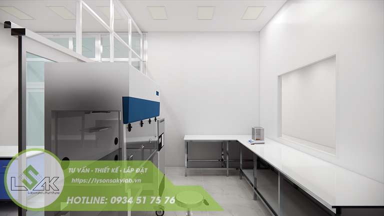 Thiết kế phòng cấy vi sinh phòng thí nghiệm nhà máy sữa Lothamilk