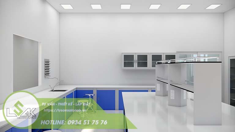 Thiết kế phòng hóa lý phòng thí nghiệm nhà máy sữa Lothamilk