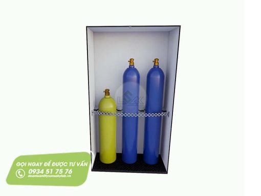Tủ đựng bình khí gas trong phòng thí nghiệm