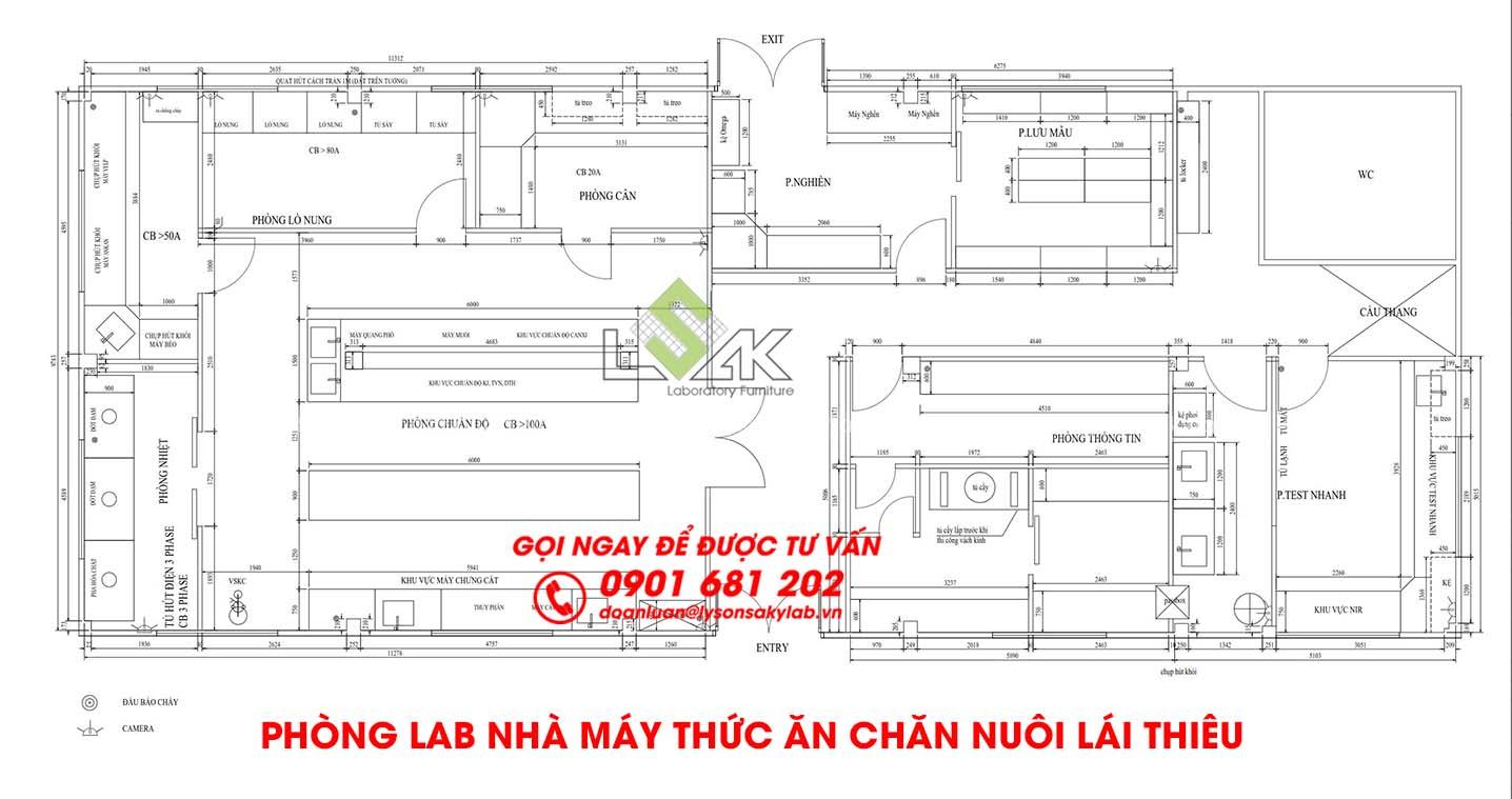 Phòng lab nhà máy thức ăn chăn nuôi Lái Thiêu