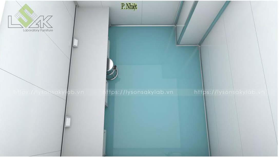 bàn thí nghiệm nội thất phòng lab nhà máy sản xuất thuốc thú y - thủy sản UV Việt Nam