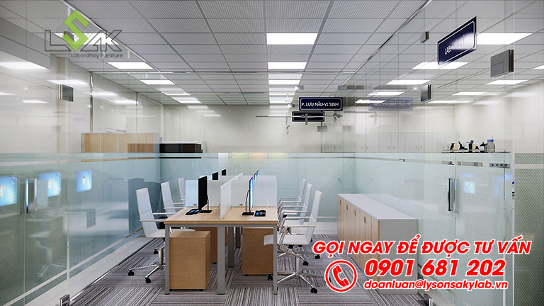 Phòng làm việc thiết kế phòng thí nghiệm QA/QC/R&D sản xuất thực phẩm