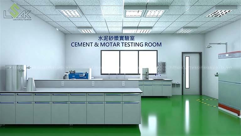 Phòng Cement & Motar Testing