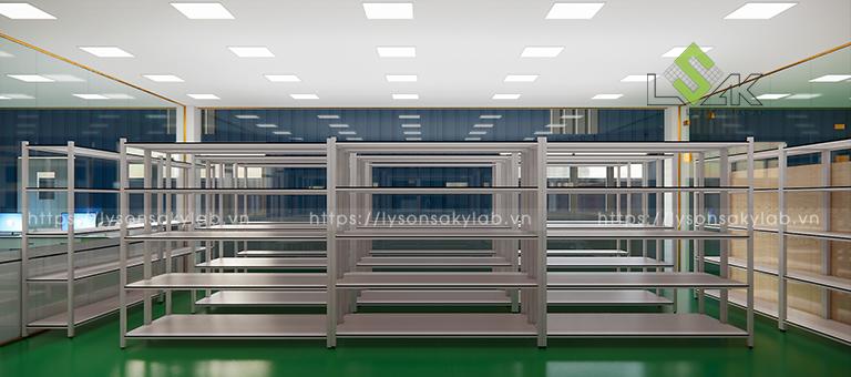 Kệ lưu mẫu phòng lưu trữ thiết kế phòng thí nghiệm thuốc cho gia súc, gia cầm