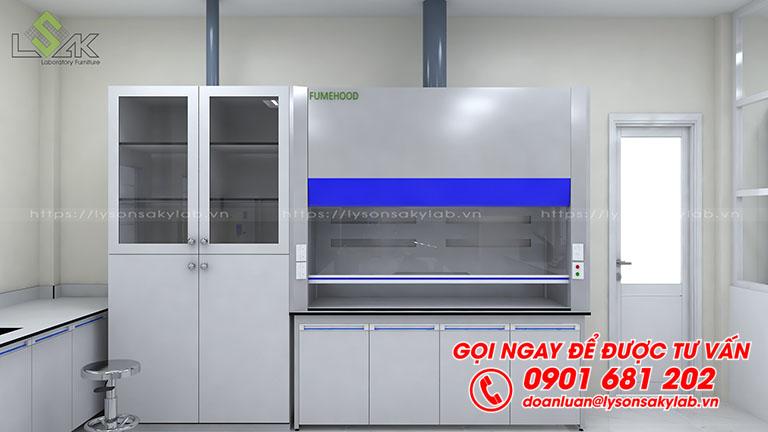 Tủ hút hóa chất, tủ đựng dụng cụ phòng thí nghiệm thuốc sát trùng VN
