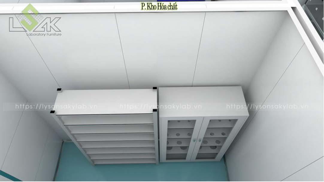 Kệ lưu mẫu, tủ đựng dụng cụ thủy tinh phòng thí nghiệm