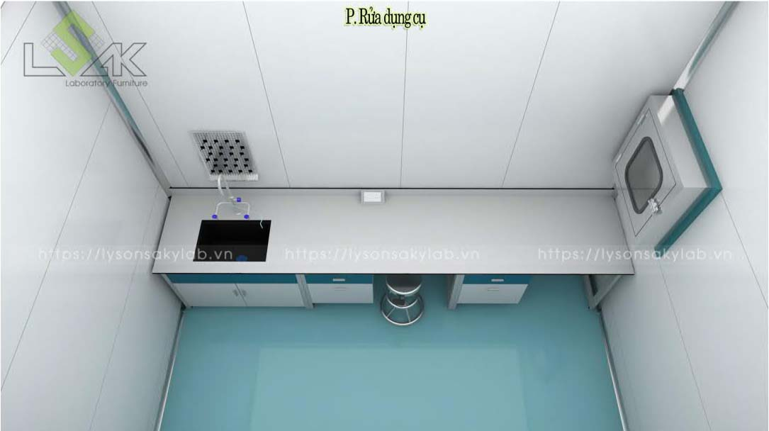 Tủ chuyển mẫu passbox phòng lab nhà máy sản xuất thuốc thú y - thủy sản UV Việt Nam