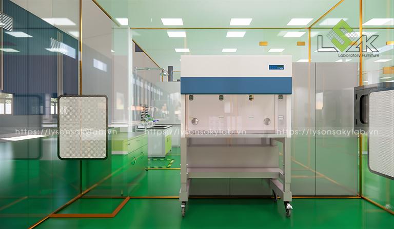 Tủ cấy vi sinh phòng nhiễm khuẩn thiết kế phòng thí nghiệm thuốc cho gia súc, gia cầm