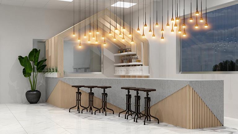 Phòng tiếp đón thiết kế phòng lab trung tâm nghiên cứu và phát triển thực phẩm