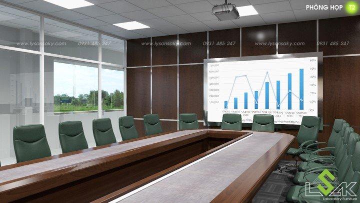 Phòng họp thiết kế phòng lab trung tâm nghiên cứu và phát triển thực phẩm