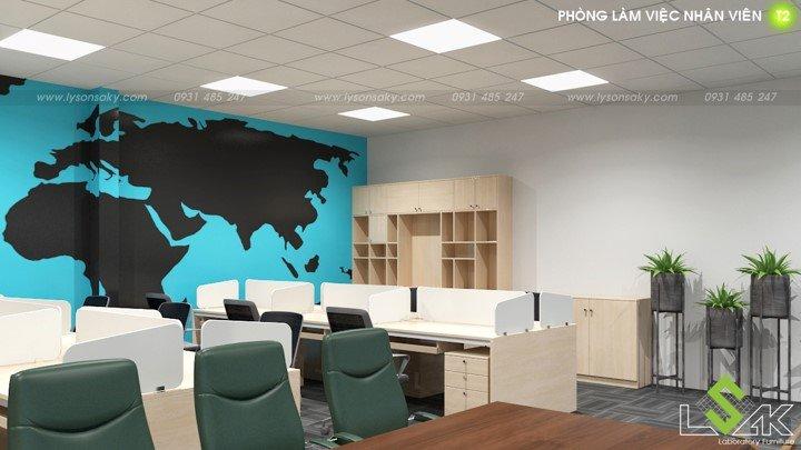 Phòng làm việc nhân viên thiết kế phòng lab trung tâm nghiên cứu và phát triển thực phẩm