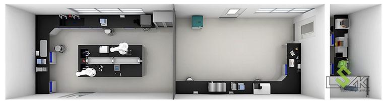 3D thiết kế phòng thí nghiệm nhà máy thức ăn chăn nuôi New Hope