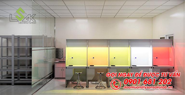 Phòng lab cảm quan thiết kế phòng thí nghiệm QA/QC/R&D sản xuất thực phẩm