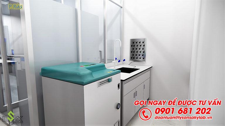 Phòng rửa thiết kế phòng thí nghiêm môi trường