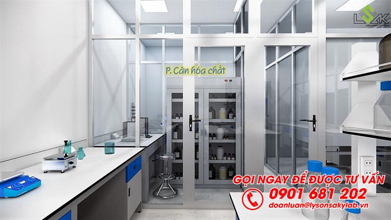 Phòng cân hóa chất thiết kế phòng thí nghiêm môi trường