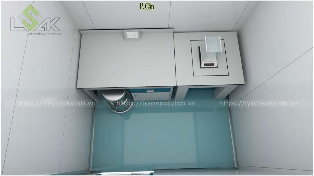 Bàn cân nội thất phòng lab nhà máy sản xuất thuốc thú y - thủy sản UV Việt Nam