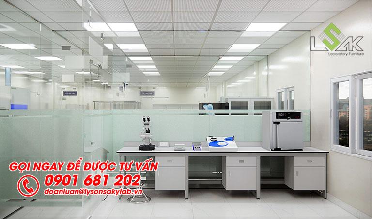 Phòng vi sinh thiết kế phòng thí nghiệm QA/QC/R&D sản xuất thực phẩm