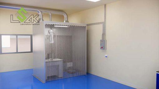 Chụp hút bụi cho phòng sơn - Dust Booth for powder pre-batching
