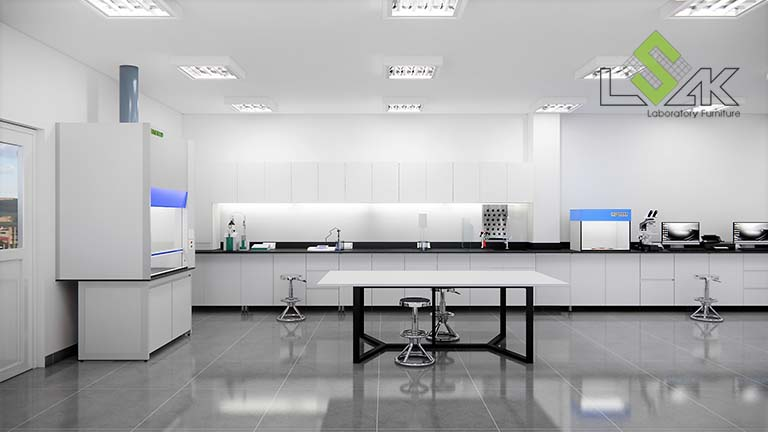 Thiết kế nội thất phòng lab công ty SAITEX FABRICS Việt Nam