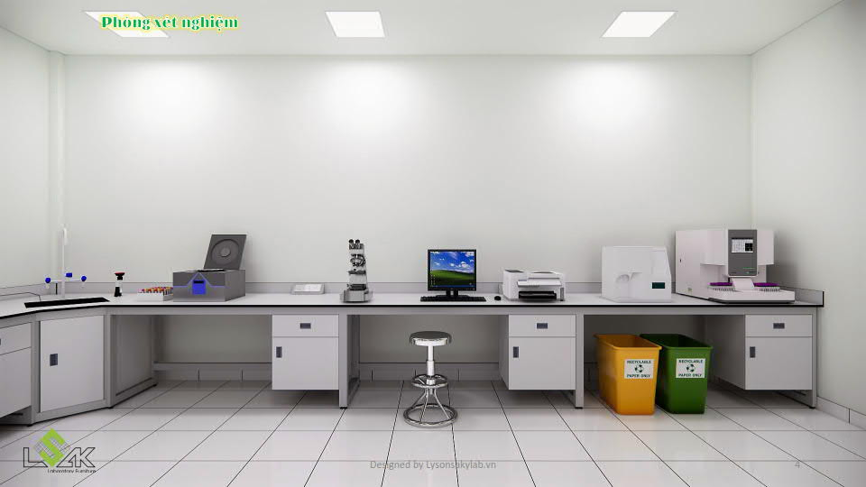 Bàn thí nghiệm phòng xét nghiệm sinh học phân tử