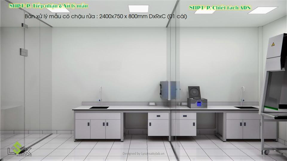 Phòng tiếp nhận và xử lý mẫu