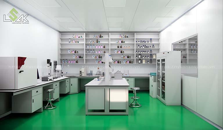 Thiết kế phòng lab mỹ phẩm - Cosmetic Laboratory Design
