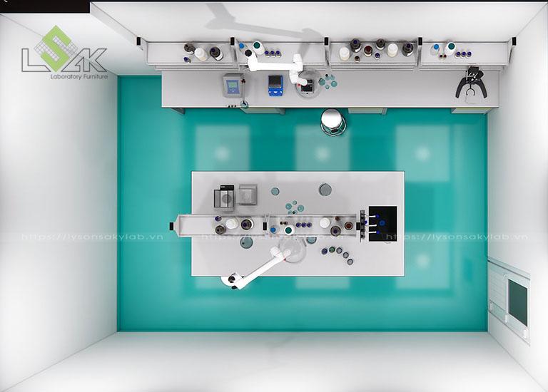 Phòng lab nghiên cứu và phát triển các sản phẩm phụ gia hoá chất xây dựng