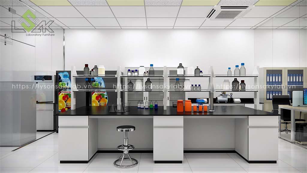 Bàn thí nghiệm trung tâm phòng xử lý mẫu