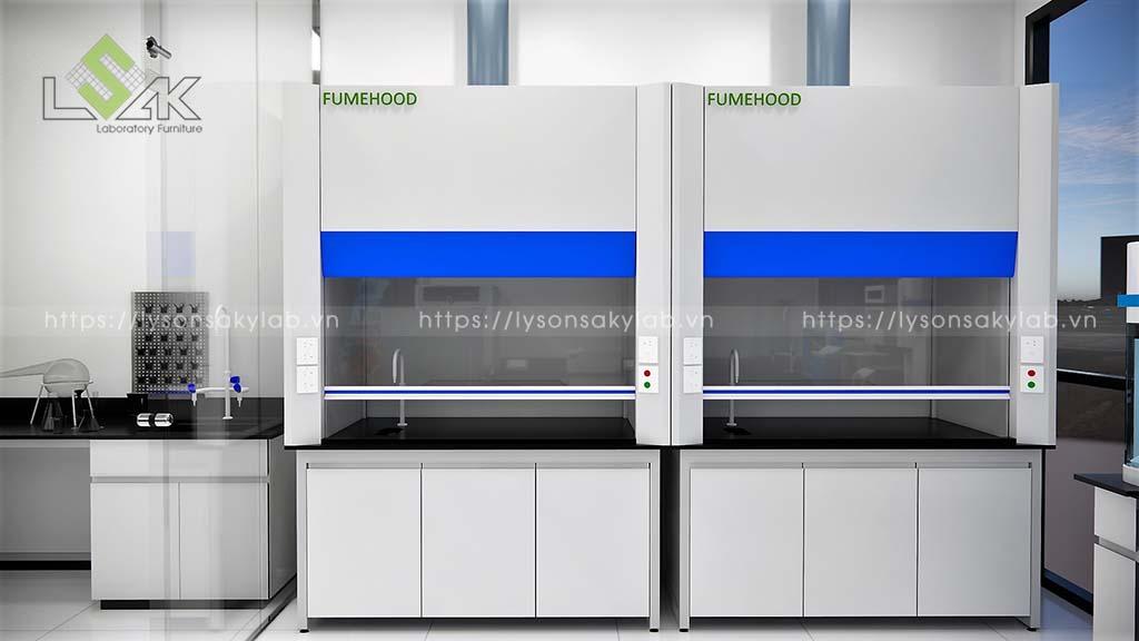 Tủ hút khí độc pha hóa chất phòng thí nghiệm