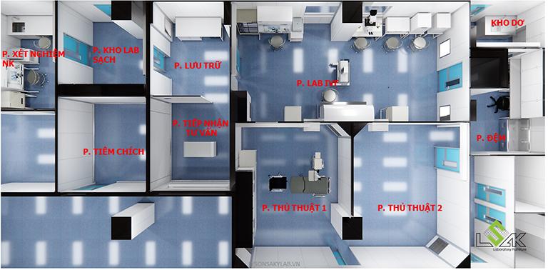 Thiết kế trung tâm lab hiếm muộn ivf