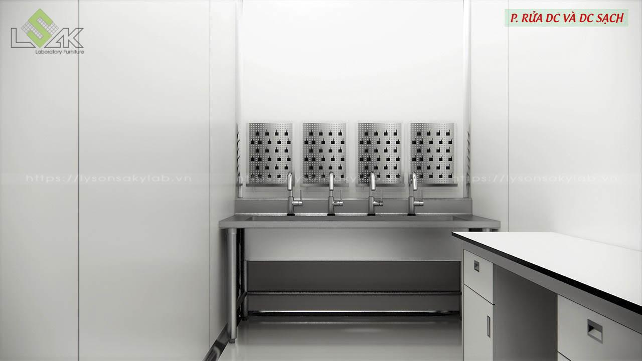 Phòng rửa dụng cụ và dụng cụ sạch