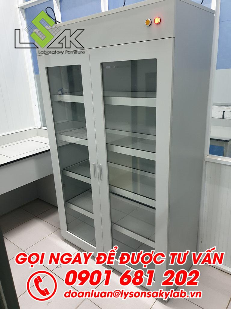 Tủ đựng hóa chất nội thất phòng thí nghiệm môi trường