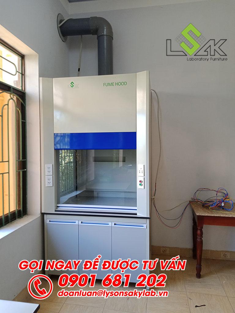 Tủ hút khí độc phòng thí nghiệm Trạm nghiên cứu thực nghiệm KH&CN