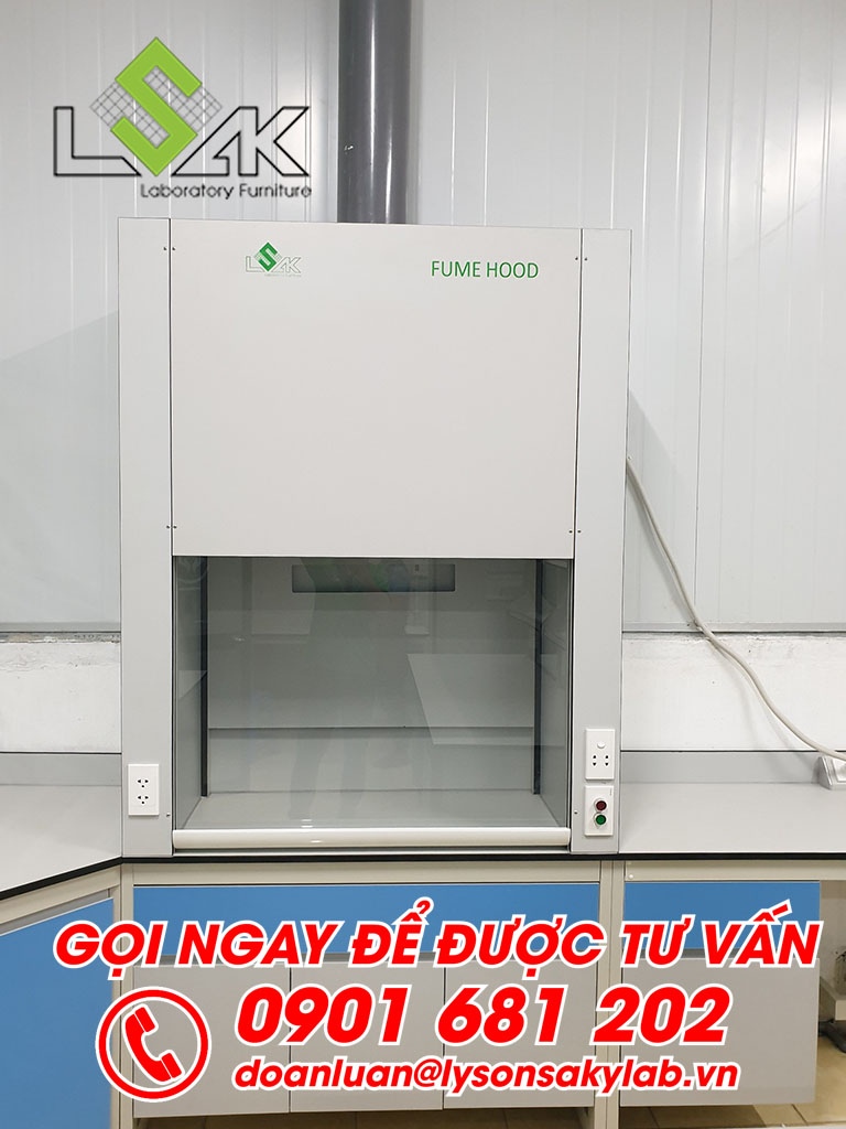 Tủ hút hóa chất phòng thí nghiệm môi trường