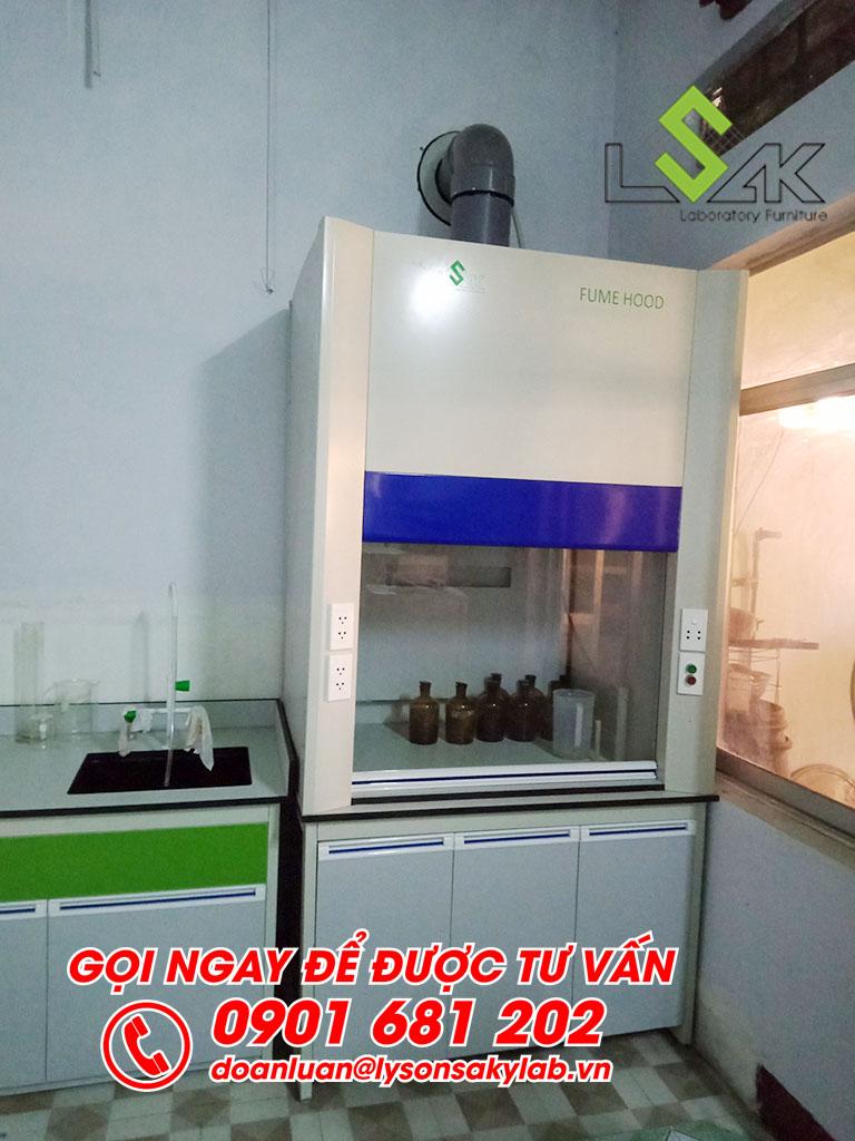 Tủ hút hóa chất phòng thí nghiệm Trạm nghiên cứu thực nghiệm KH&CN