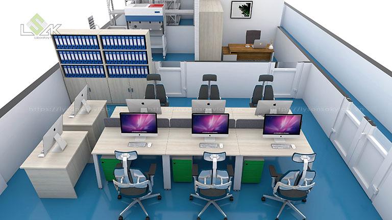 Văn phòng làm việc 10 vị trí ngồi tại nhà máy