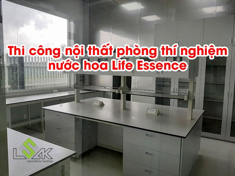 Thi công nội thất phòng thí nghiệm nước hoa Life Essence