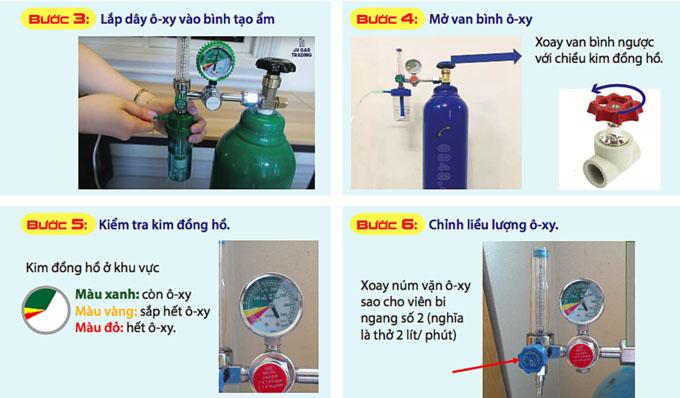 Cách lắp đặt bình oxy y tế tại nhà