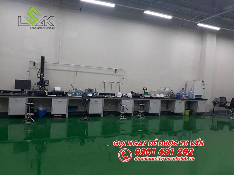Thi công nội thất phòng QC nhà máy Kolon Industries Việt Nam