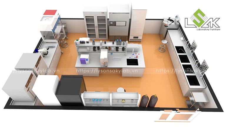 Thiết kế phòng lab vi sinh