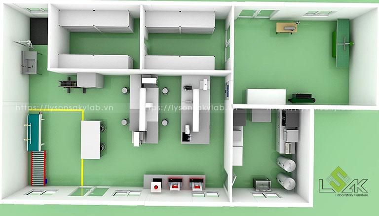 Thiết kế phòng lab nhà máy Sản Xuất Sơn