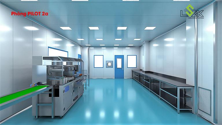 Thiết kế phòng Pilot phòng lab dược phẩm Savipharm