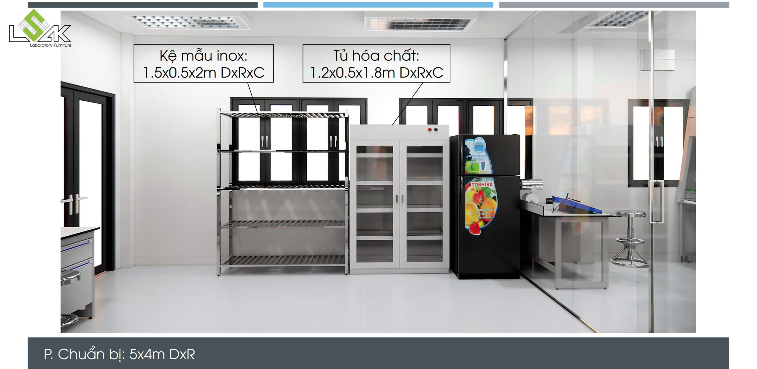 Kệ lưu mẫu inox, tủ đựng hóa chất phòng thí nghiệm