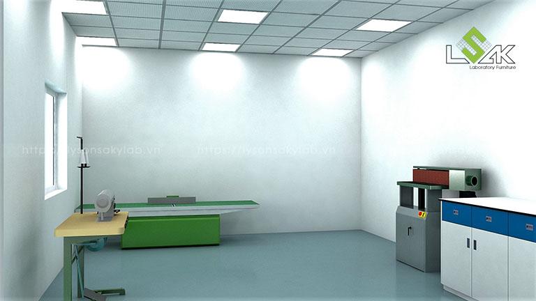 Thiết kế phòng thí nghiệm nhà máy Sản Xuất Sơn