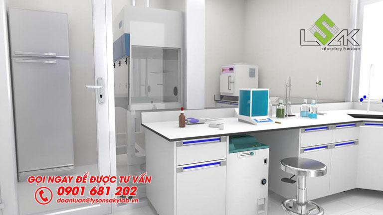 Thiết kế phòng lab nhà máy sữa Dalat Milk
