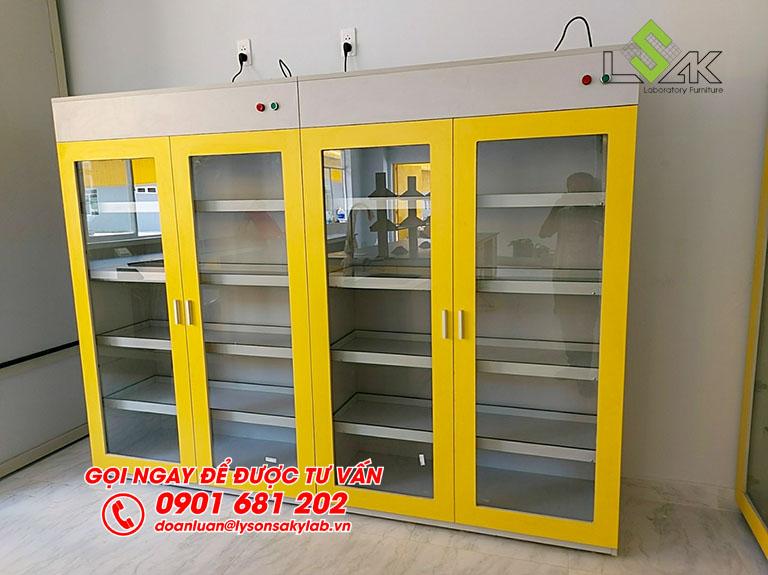 Tủ đựng hóa chất phòng lab nhà máy sản xuất keo dán Công ty Techbond MFG (Việt Nam)